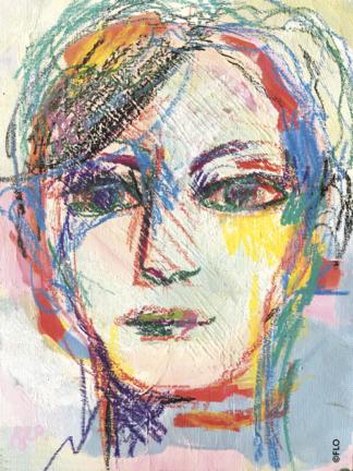 Portrait mixed media