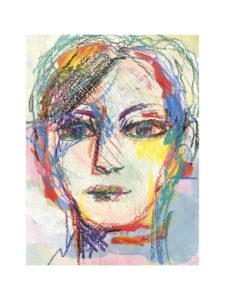 flo portrait mix media cadre01 225x300 - Portrait mixed media