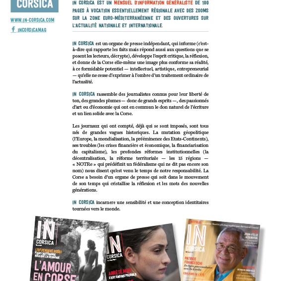 incorsica communication 566x566 - IN Corsica magazine