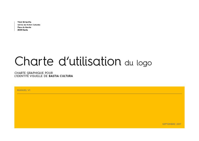 bastia cultura charte graphique cover - BASTIA CULTURA