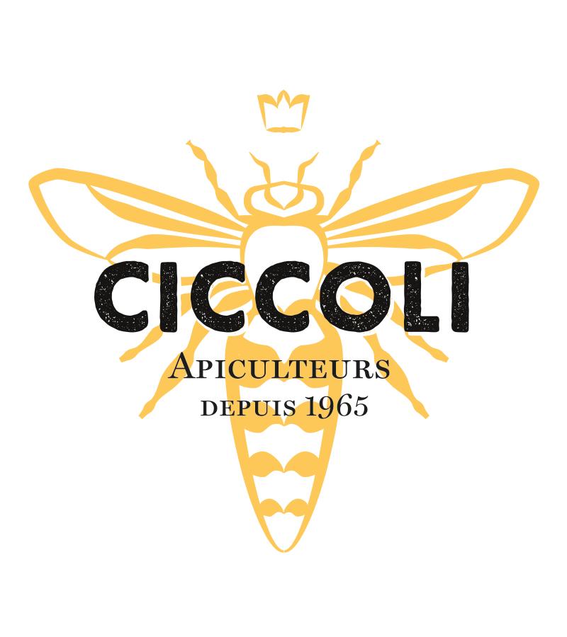 identité visuelle Ciccoli apiculteur logo