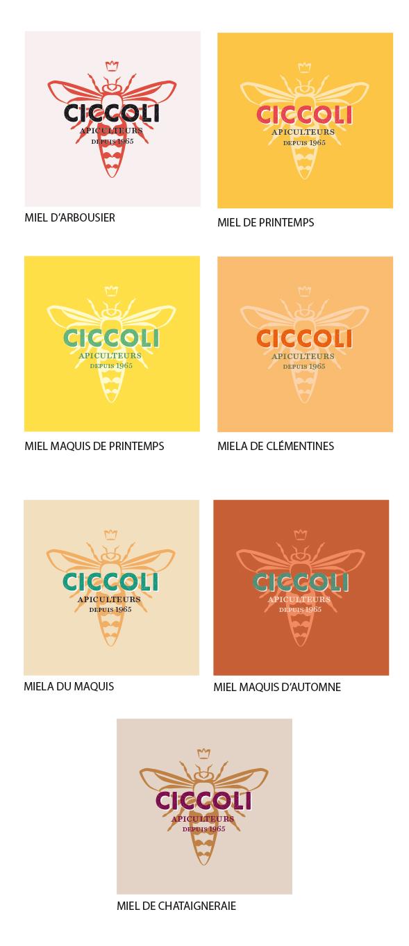 ciccoli miels - Logo Ciccoli Apiculteurs