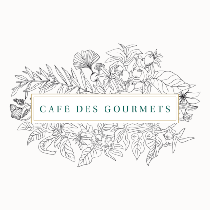 Identité visuelle du Café des Gourmets à Bastia