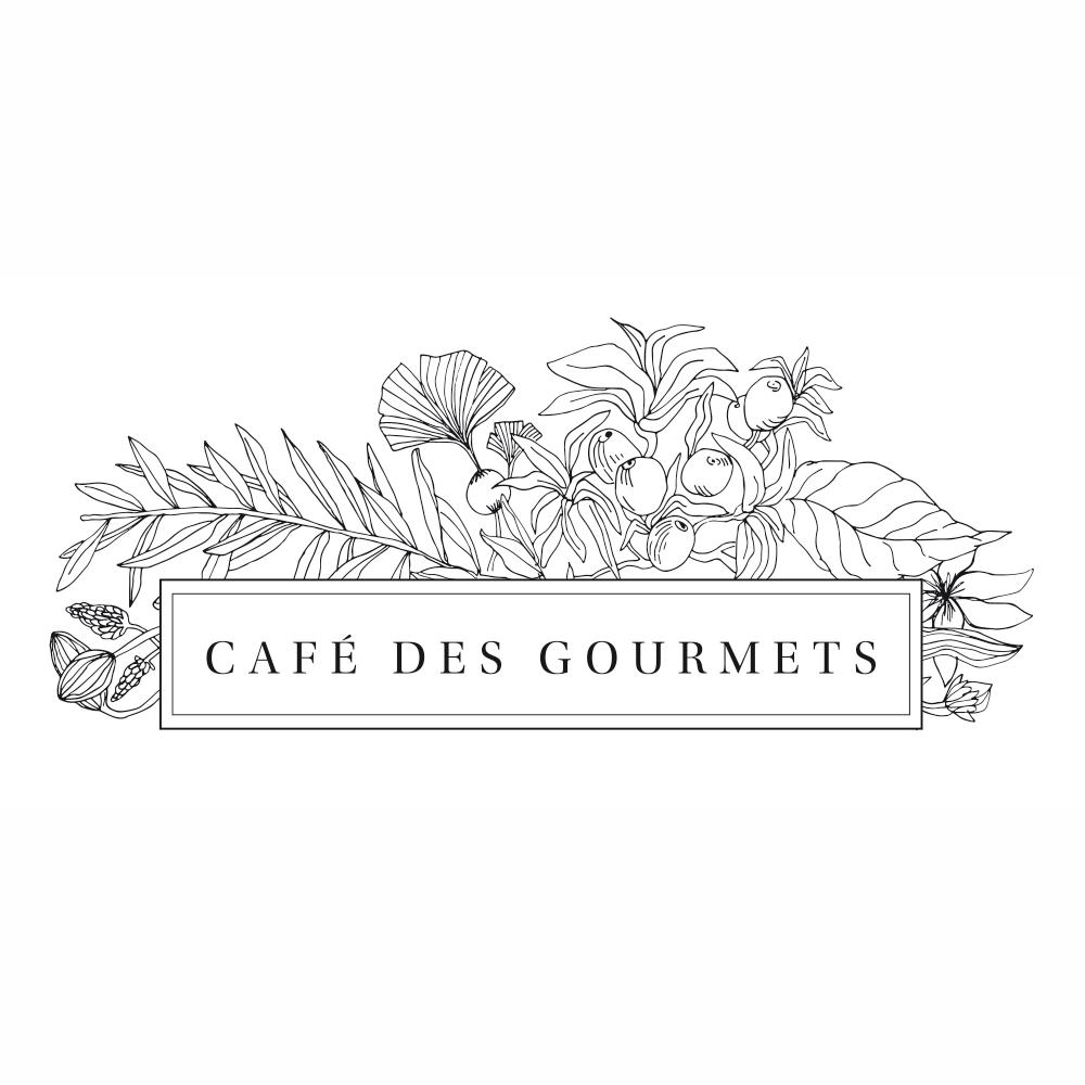 cafe des gourmets logo large noir - Identité visuelle du Café des Gourmets à Bastia