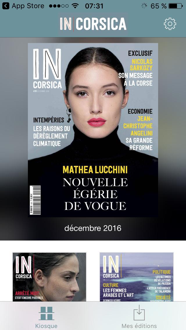 incorsica appli - IN Corsica magazine