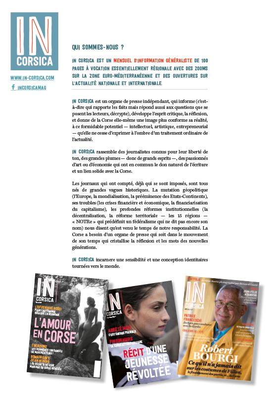 incorsica communication - IN Corsica magazine