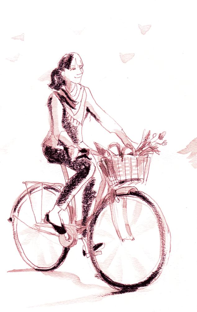 qualitair corse a velo - Illustrations pour Qualitair Corse