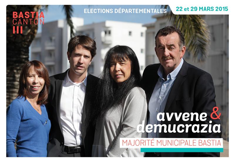 Elections départementales corse canton Bastia 2015