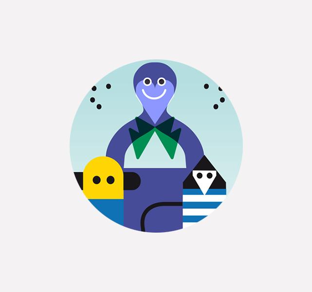 Illustration digitale » happy daddy «
